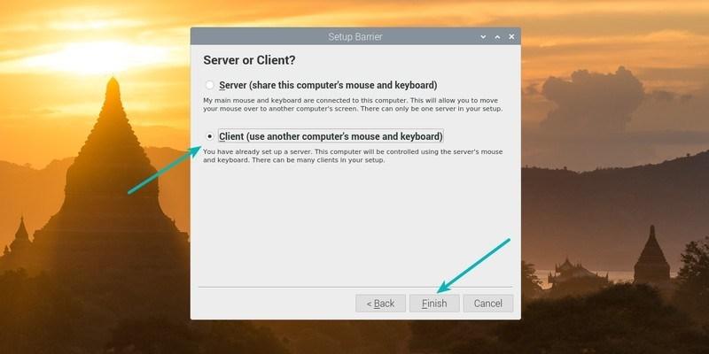 El programa de instalación de la Barrera de Cliente en la Raspberry Pi