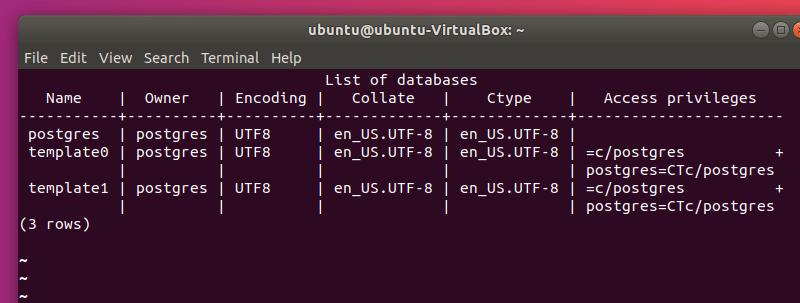 Tablas De PostgreSQL