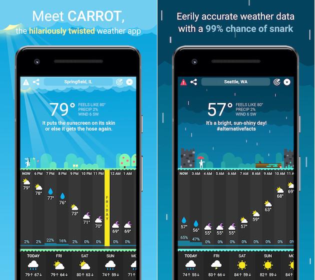 Zanahoria clima para Android
