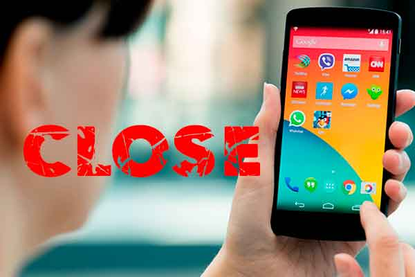 cerrar aplicaciones android segundo plano