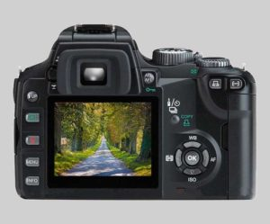 la visualización de la cámara