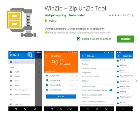 winzip para android, descargar winzip para android gratis