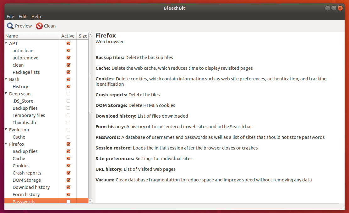 BleachBit for Ubuntu
