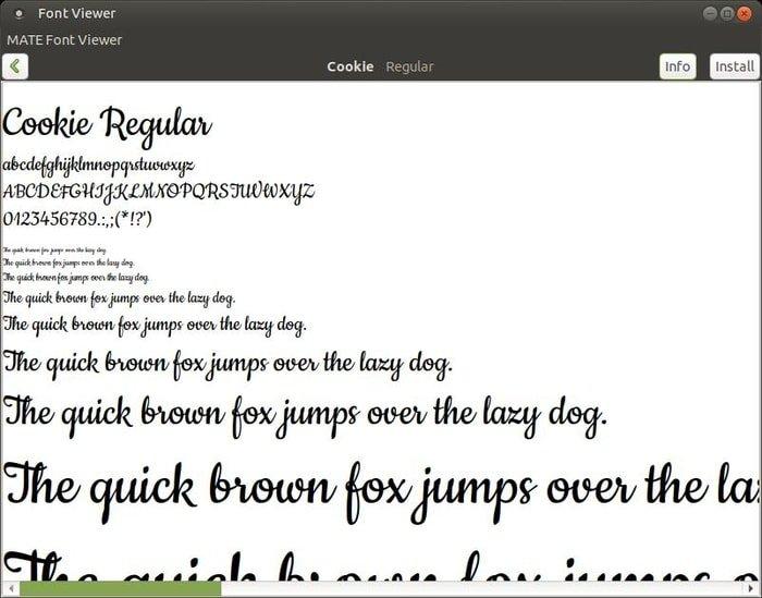 MATE Font Viewer