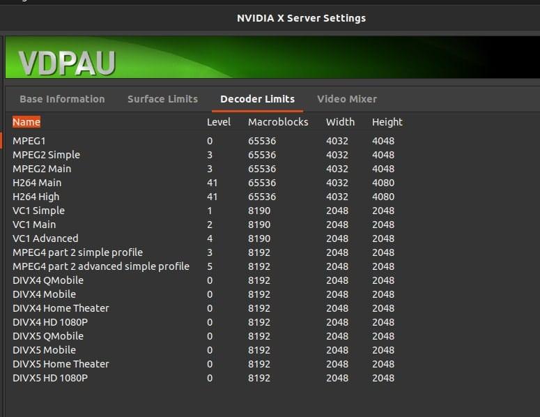 NVDIA codec for ubuntu 1