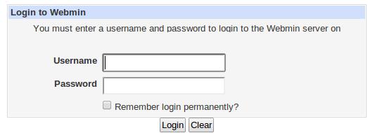 webmin login ubuntu server