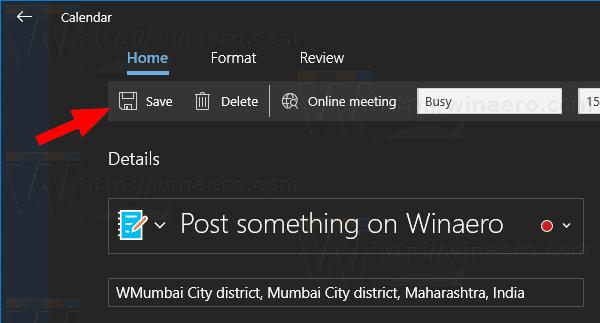 Windows 10 Aplicación De Calendario Nuevo Evento De Diálogo 10