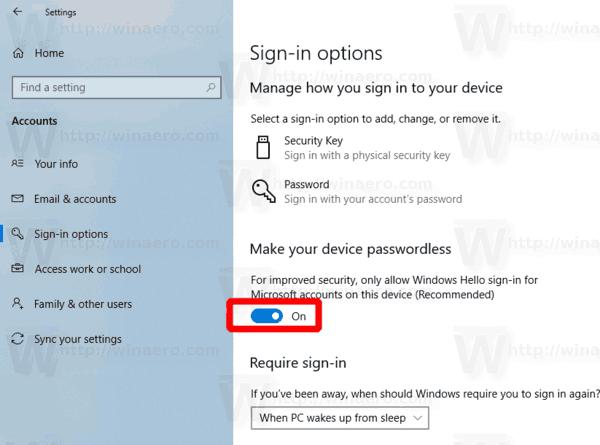 Windows 10 Habilitar sin contraseña iniciar sesión