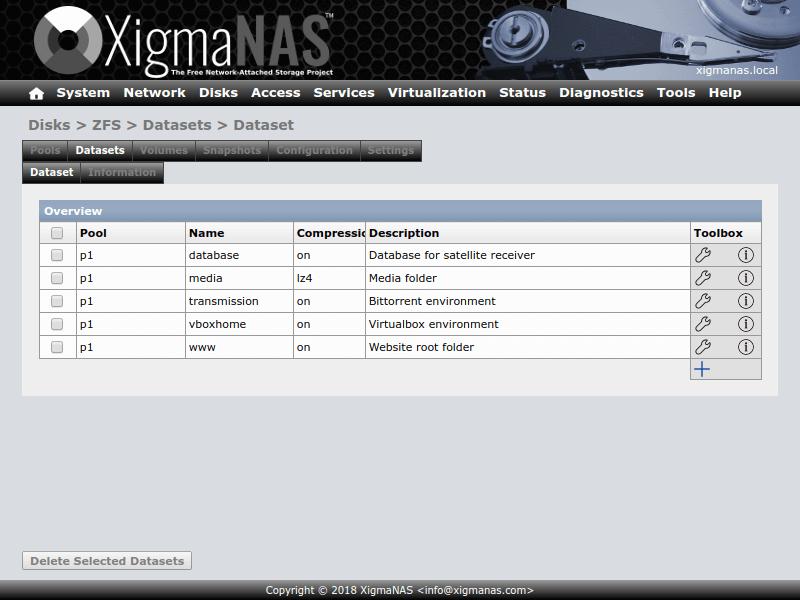 XigmaNAS Network Attached Storage