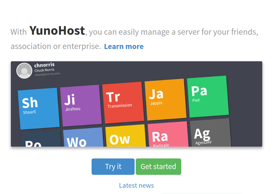 YunoHost Personal Web Hosting Server