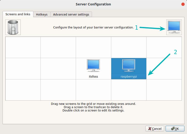 Barrera De Configuración Del Servidor