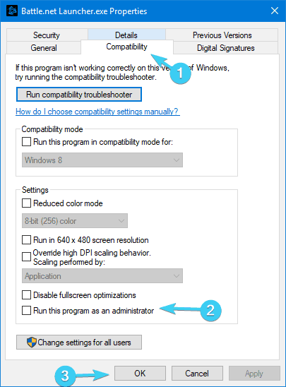 compatibility battle.net not opening