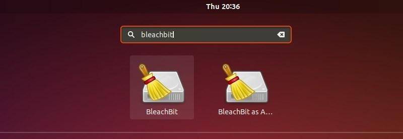 Bleachbit en el Menú de Aplicaciones