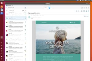 bluemail email app on linux 2