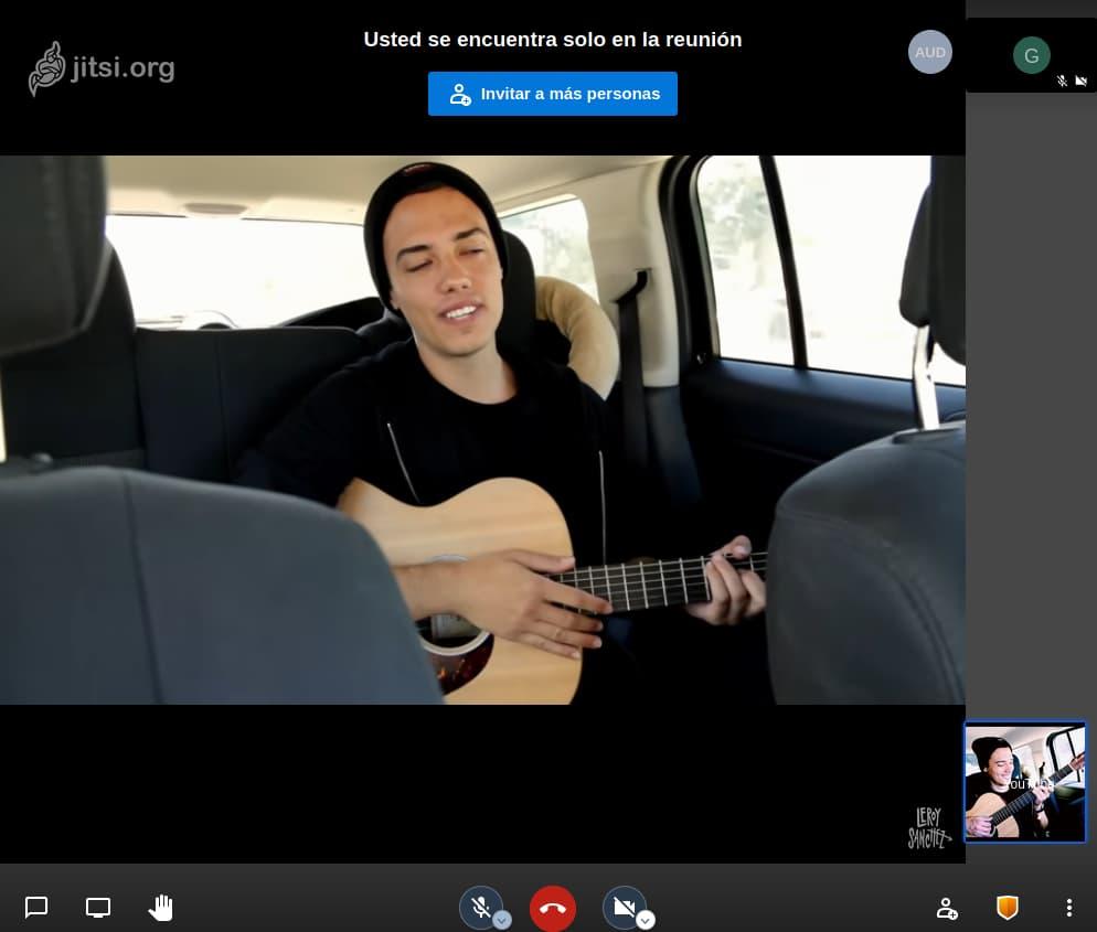 compartir videos jitsi