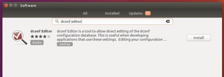 dconf editor gnomesoftware