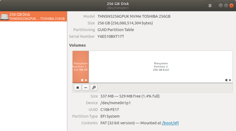 disk partition in single ubuntu install