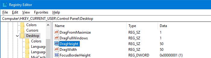 dragheight dragwidth registro de píxeles