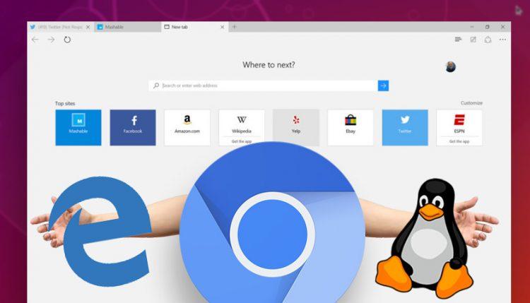 Microsoft borde de cromo y linux