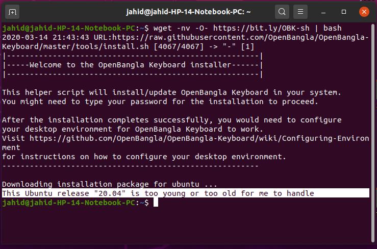 errores en Ubuntu 20 04 LTS Focal Fossa