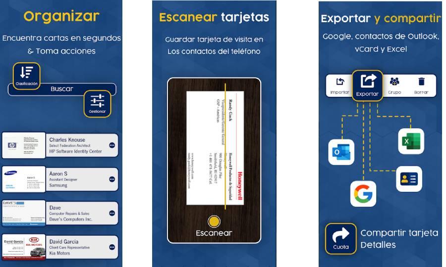 escaner de tarjetas con android