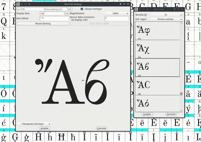 FontForge in Linux font tools