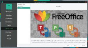 freeoffice in Manjaro Linux