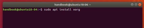 install back xorg