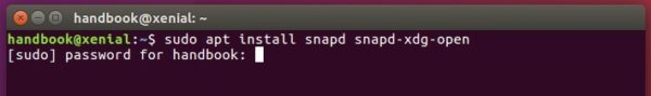 install snapd xdg