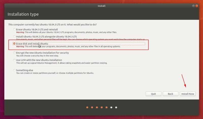 Borrar disco e instalar Ubuntu Linux