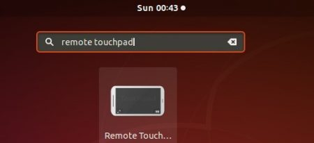 launch remotetouchpad