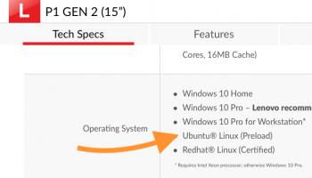 lenovo p1 ubuntu