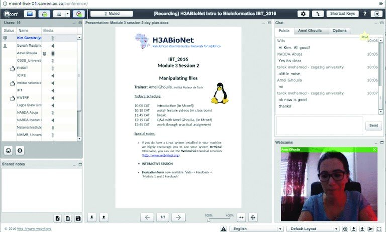 Linux video conferencing software Mconf