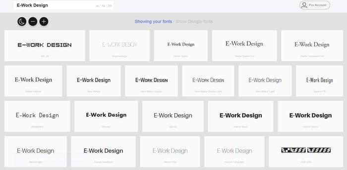 myFontBook web font manager