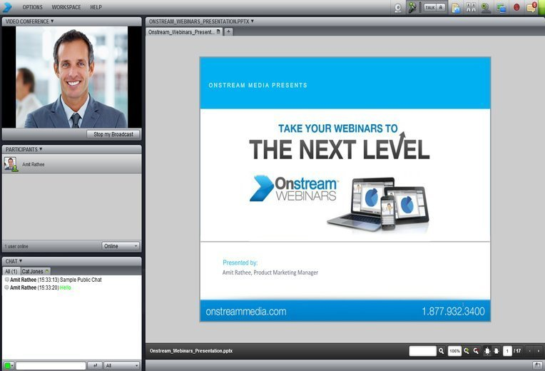 Onstream Webinars video conferencing software for Linux