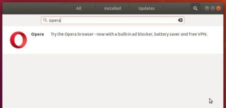 opera snap softwarecenter
