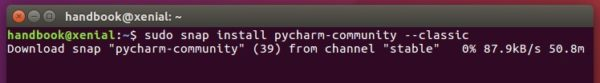 pycharm community snap