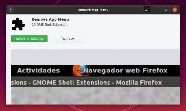 remove appmenu extension
