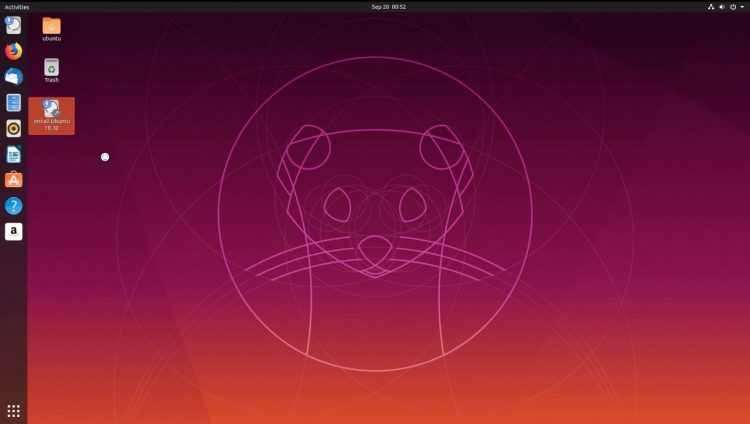 ubuntu 19.10 beta desktop screenshot