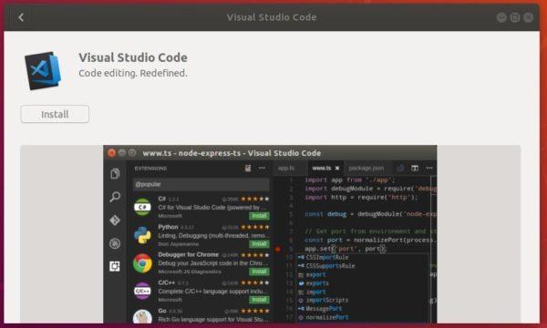 vscode softwarecenter
