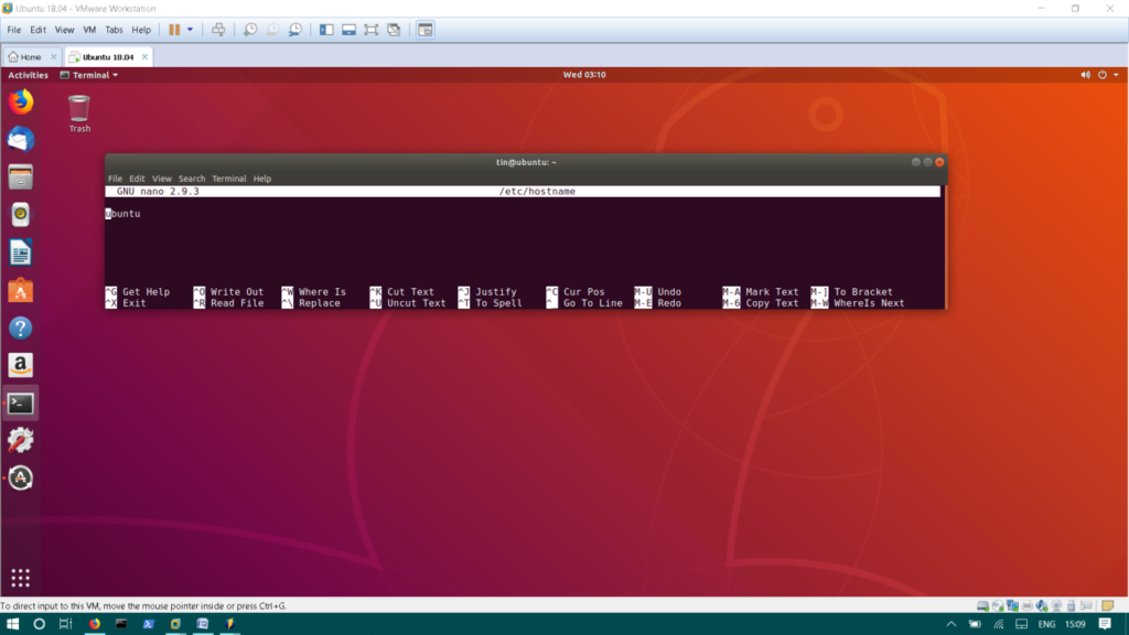 Edit Ubuntu hostname