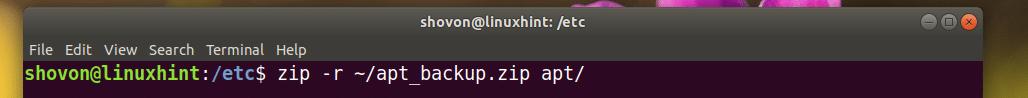 Zip De La Carpeta De Linux